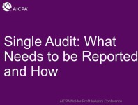 Single Audit: What Needs to be Reported and How