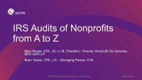 IRS Audits of Nonprofits from A to Z