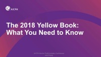 "The ""New"" Yellow Book: A Detailed Review of the Changes From the ""Old"" Yellow Book"