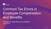 Common Tax Errors in Employee Compensation and Benefits
