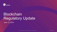 Blockchain Regulatory Update