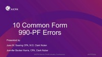 Top 10 Form 990-PF Reporting Errors