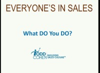What DO You Do?  Selling Yourself Internally