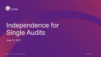 Independence for Single Audits