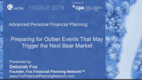 Preparing for Outlier Events That May Trigger the Next Bear Market, presented by Fox Financial