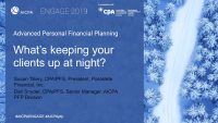 What's Keeping Your Clients Up at Night? (EST, PFP, TAX)