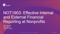 Effective Internal and External Financial Reporting at Nonprofits