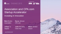 Association and CPA.com Startup Accelerator: Investing in Innovation