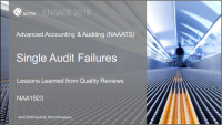 Single Audit Failures: Lessons from Quality Reviews