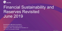 Financial Sustainability & Reserves Revisited