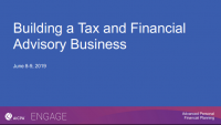 Building a Tax and Financial Planning Advisory Business Workshop - Day 1