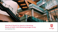 How Much Should You Spend on Marketing: Results of AAM's 2019 Marketing Budget Survey