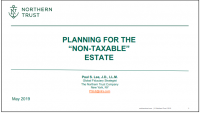 Planning for the Non-Taxable Estate