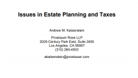 Estate Planning Update