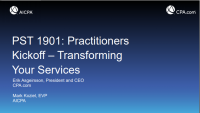 Practitioners Kickoff