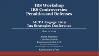 IRS Controversies