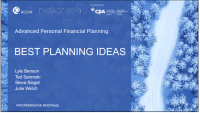 Best Planning Ideas (Preceded by the Presentation of the 2018 Distinguished Service Award)