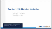 Advanced S 199A Planning Strategies