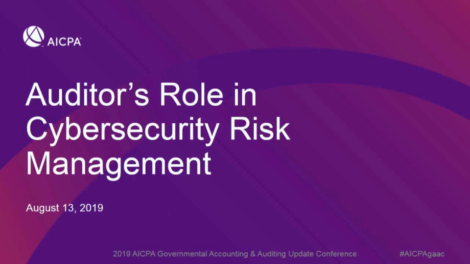 Auditor's Role in Cybersecurity Risk Management