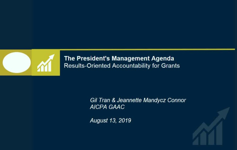 OMB President's Management Agenda Update