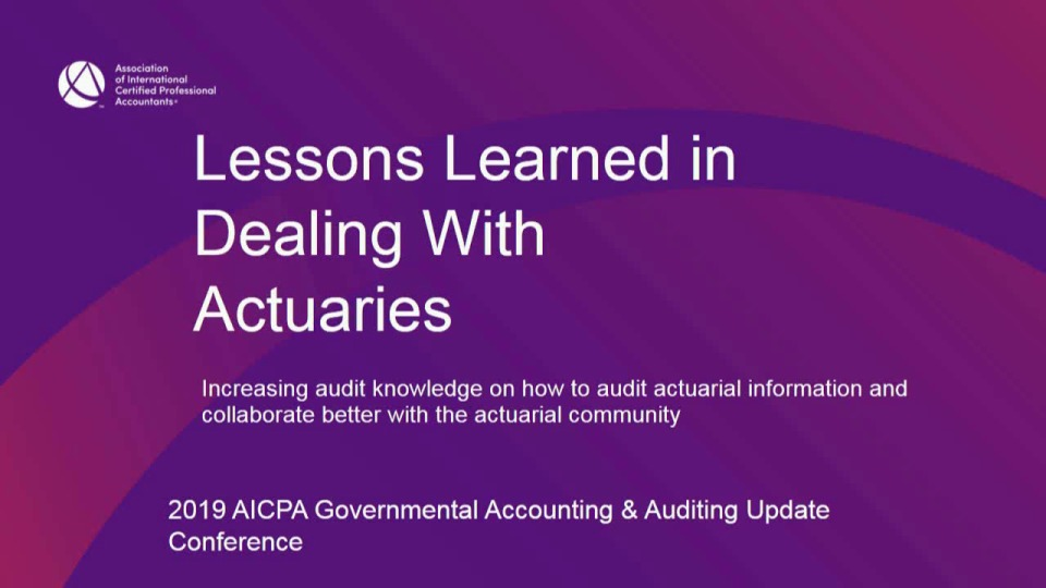 Lesson Learned in Dealing wth Actuaries