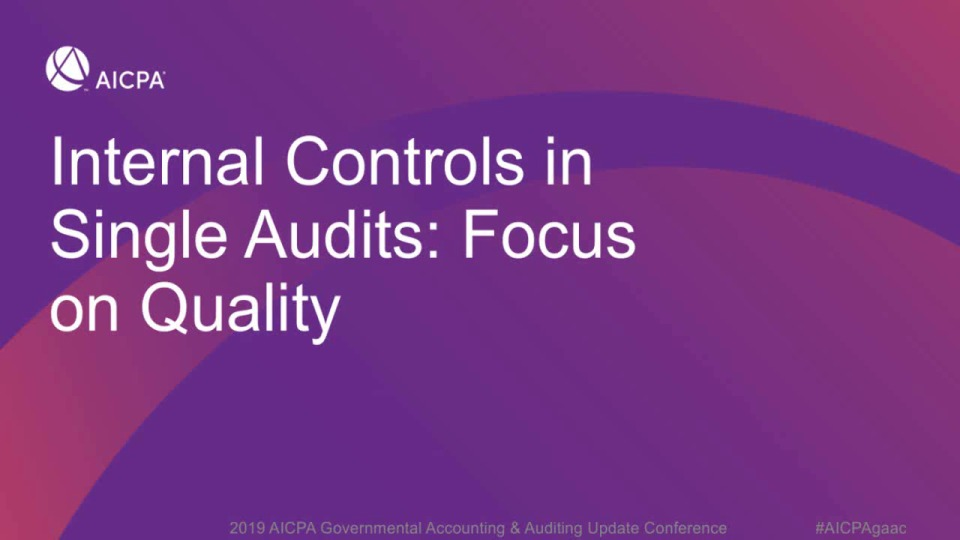 Internal Controls in the Single Audit - Focus on Quality