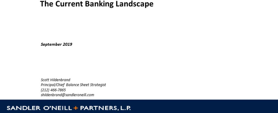 Performance & Outlook for Banks Nationwide: What is Happening and Where is the Industry Headed?