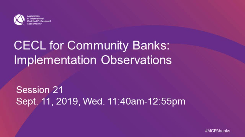 CECL for Community Banks: Implementation Observations