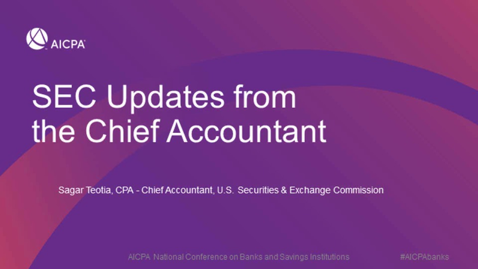 SEC Updates from the Chief Accountant
