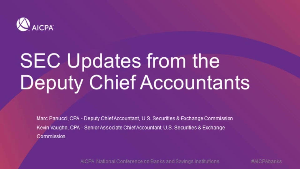 SEC Updates from the Deputy Chief Accountants