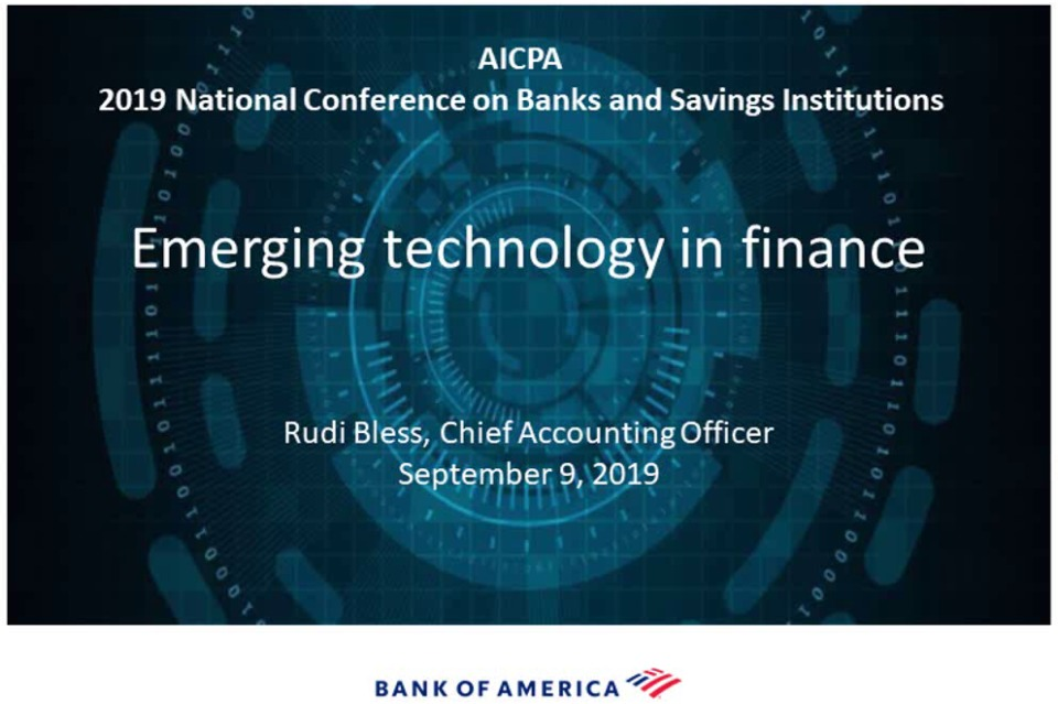 Applying Emerging Technologies in Finance at Bank of America