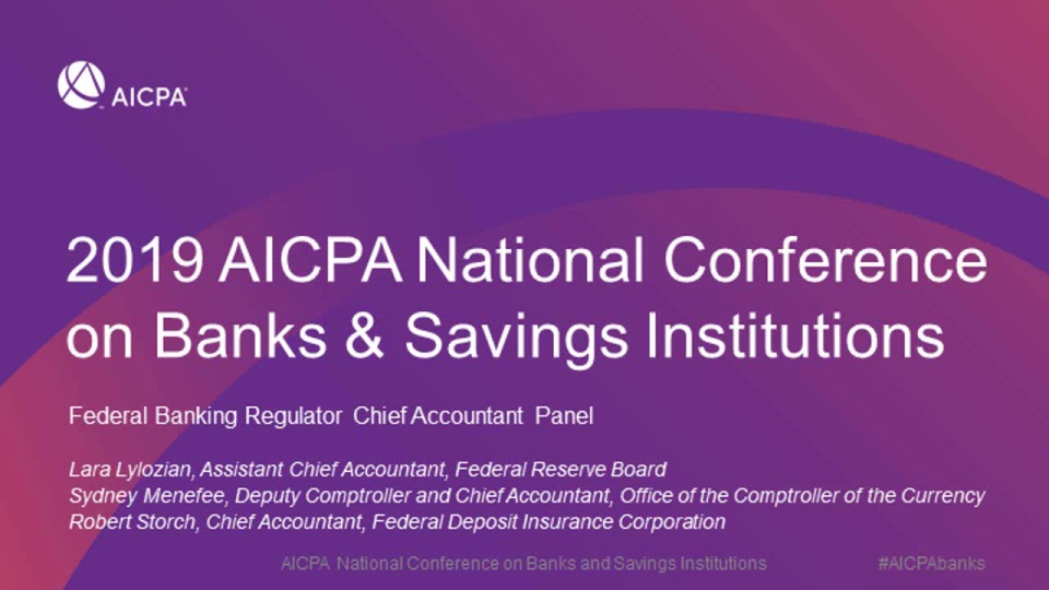 Federal Banking Regulator Chief Accountant Panel