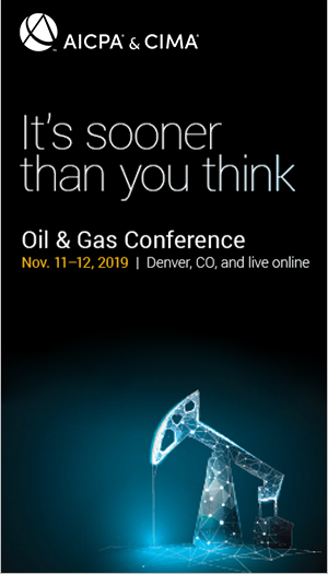 AICPA/PDI Oil and Gas Conference 2019