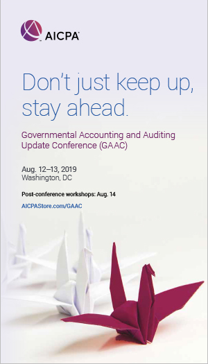 Governmental Accounting and Auditing Update Conference 2019