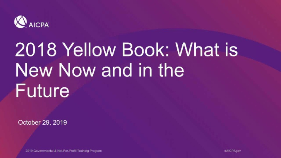 2018 Yellow Book: What is New Now and in the Future