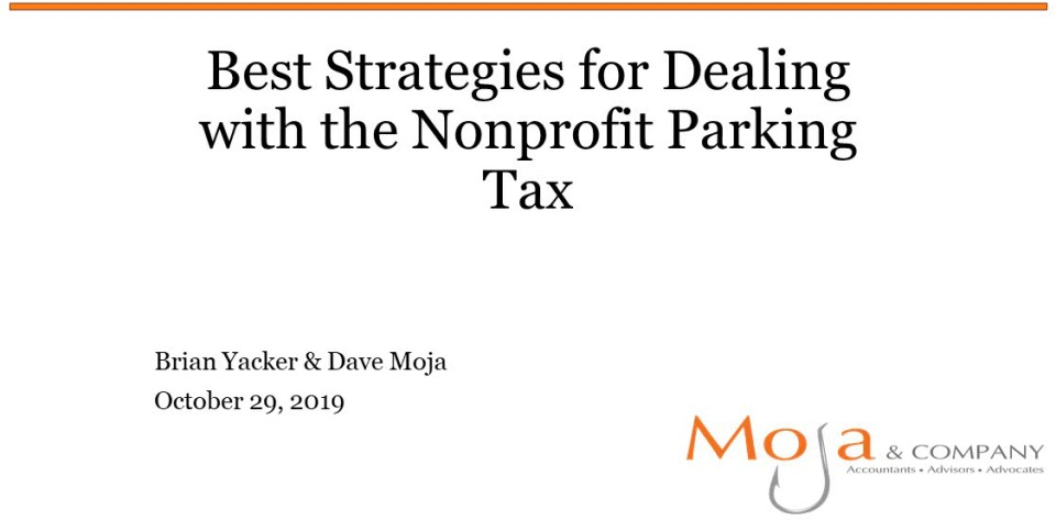Best Strategies for Dealing with the Nonprofit Parking Tax