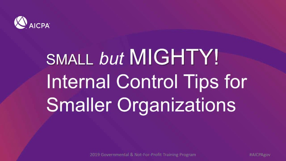 Small but Mighty - Internal Control Tips for Smaller Organizations