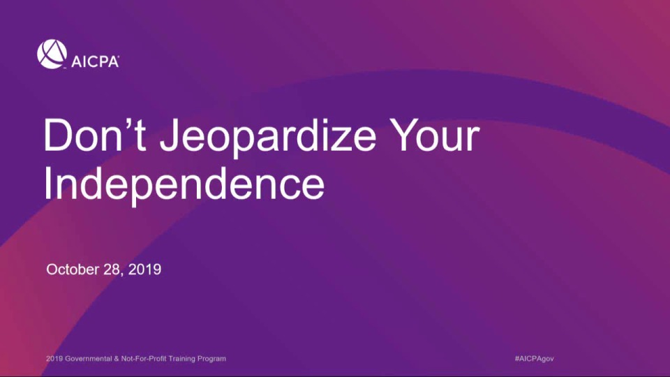 Don't Jeopardize Your Independence