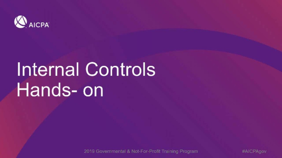 Internal Control Over Compliance: Application