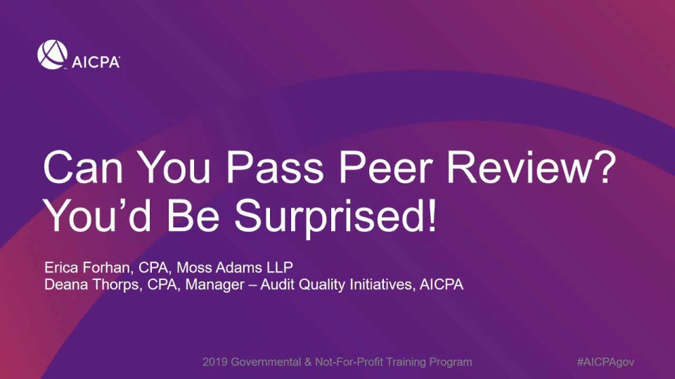 Can You Pass Peer Review? You'd Be Surprised…