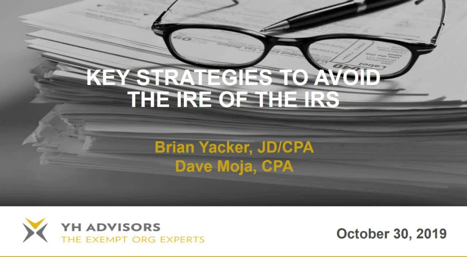 Key Strategies to Avoid the Ire of the IRS
