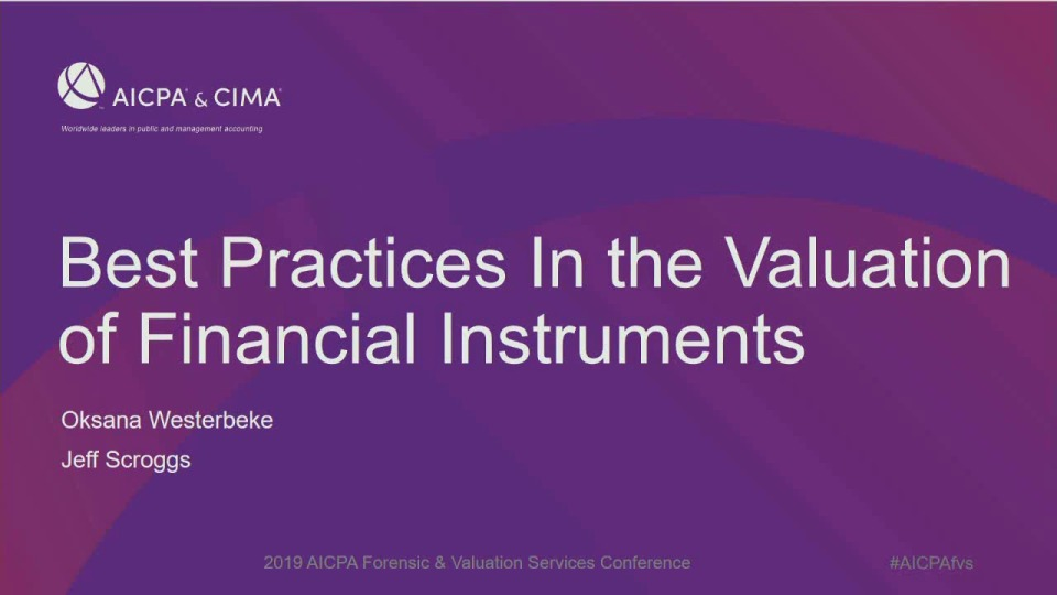 Best Practices In Financial Instruments