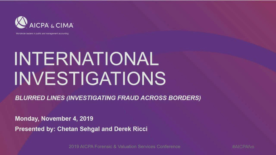 International Investigation: Blurred Lines - Investigating Fraud Across Borders