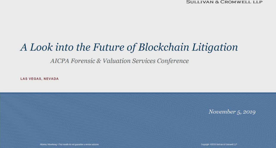 A Look Into the Future of Blockchain Litigation