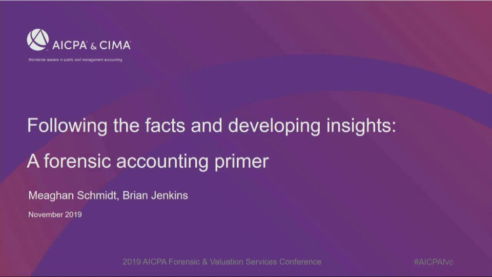 Following the Facts and Developing Insights: A Forensic Accounting Primer