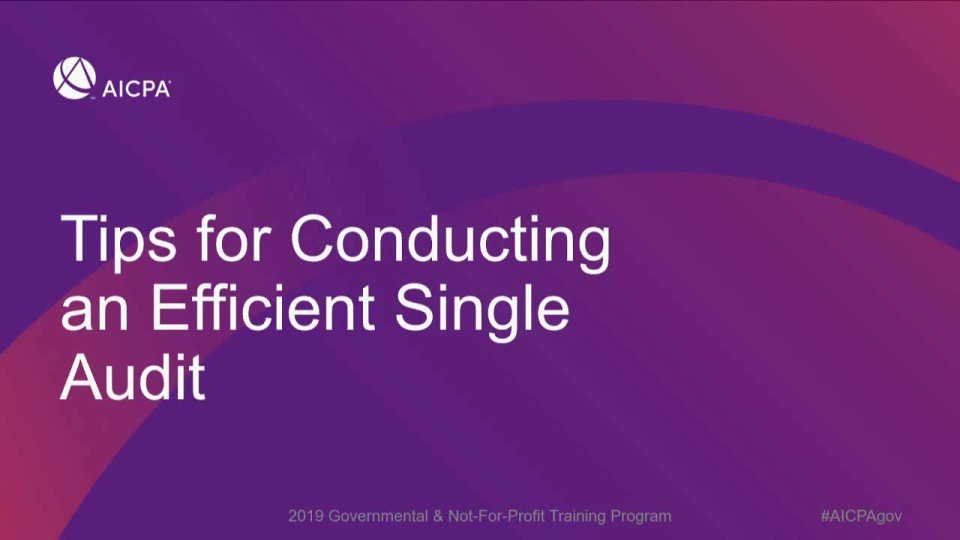 Tips for Planning to Achieve an Efficient Single Audit (Repeat of GOV1943)