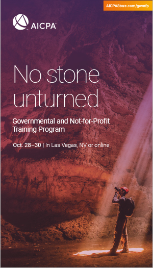 Governmental and Not-for-Profit Training Program 2019