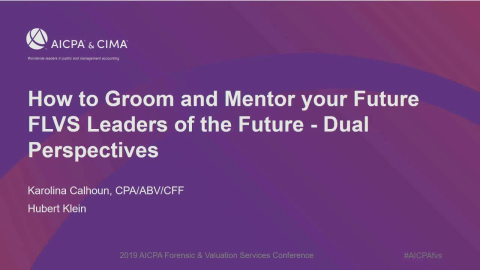 How to Groom and Mentor Your Future FLVS Leaders of the Future - Dual Perspectives