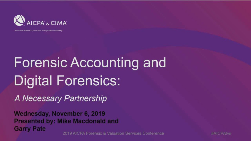 Computer Forensics and Forensic Accountants: A Necessary Partnership