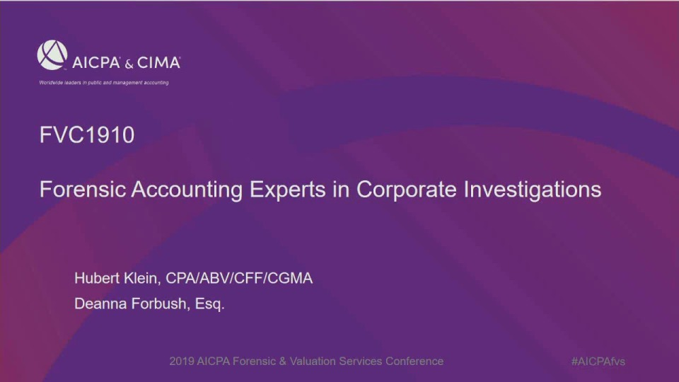 Forensic Accounting Experts in Corporate Investigations